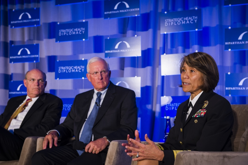 VADM Raquel Bono, Director of the Defense Health Agency and RADM Thomas Cullison, and RADM Timothy Ziemer